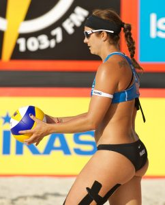 Misty May Treanor using kinesio tape in 2011